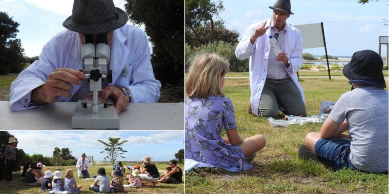 scientist and children
